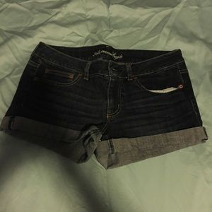 Dark, stretch shorts